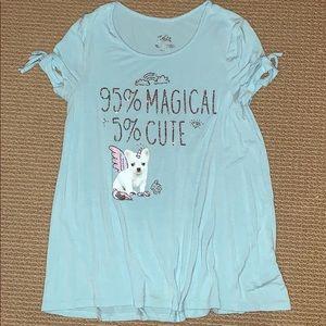 Girl's Justice T-shirt, Sz 10